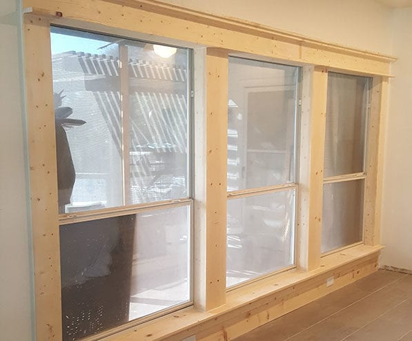 New replacement Windows installed and trimmed in Dallas -Fort Worth