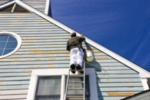 Contractor Painting House